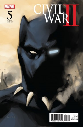 CIVIL WAR II #5 NOTO BLACK PANTHER 1 IN 10 VARIANT