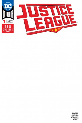 JUSTICE LEAGUE #1 (2018 SERIES) BLANK VARIANT
