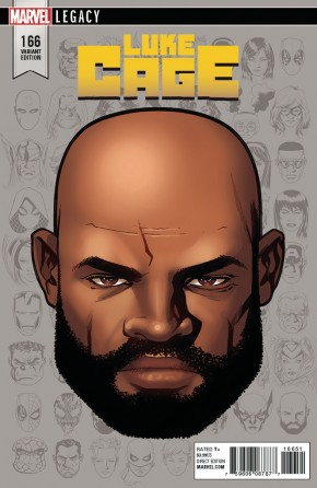 LUKE CAGE #166 (2017 SERIES) LEGACY MCKONE HEADSHOT 1 IN 10 INCENTIVE VARIANT