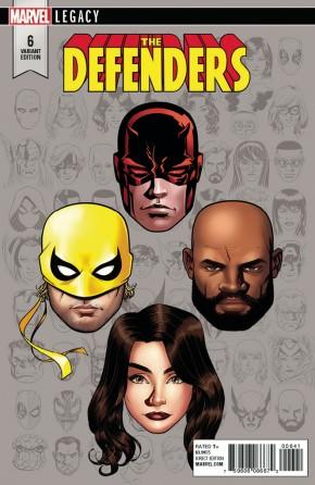 DEFENDERS #6 (2017 SERIES) LEGACY MCKONE HEADSHOT 1 IN 10 INCENTIVE VARIANT