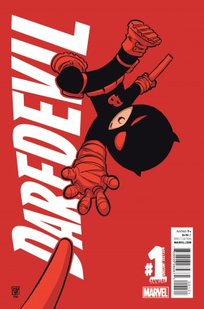 DAREDEVIL VOLUME 5 ANNUAL #1 SKOTTIE YOUNG BABY VARIANT COVER