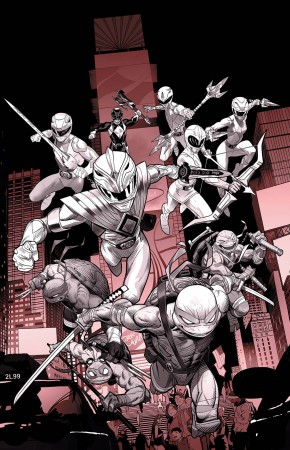 POWER RANGERS TEENAGE MUTANT NINJA TURTLES BLACK AND WHITE HARDCOVER