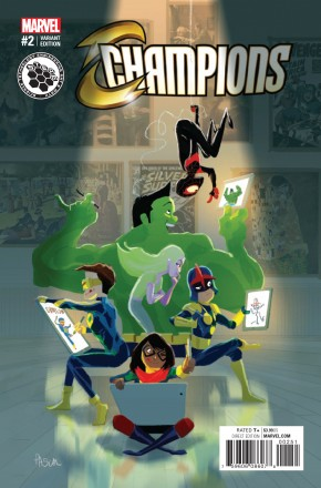 CHAMPIONS #2 CAMPION STEAM 1 IN 10 INCENTIVE VARIANT COVER