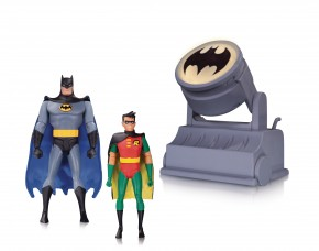 BATMAN THE ANIMATED SERIES BATMAN AND ROBIN WITH BAT-SIGNAL 2 FIGURE PACK