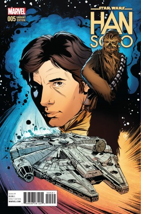 STAR WARS HAN SOLO #5 JOELLE JONES 1 IN 25 INCENTIVE VARIANT COVER