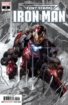 TONY STARK IRON MAN #2 2ND PRINTING