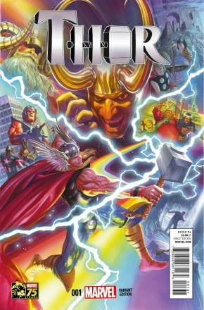 THOR #1 (2014 SERIES) 75TH ANNIVERSARY 1 IN 75 ALEX ROSS VARIANT