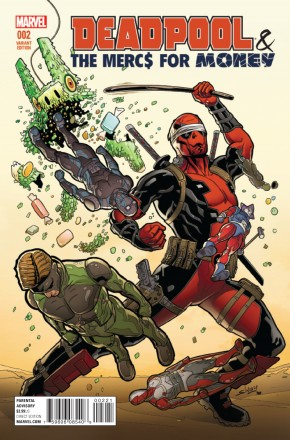 DEADPOOL AND MERCS FOR MONEY VOLUME 2 #2 SLINEY 1 IN 25 INCENTIVE VARIANT COVER