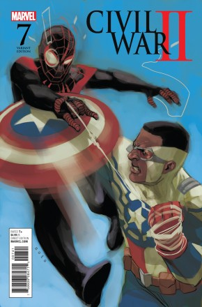 CIVIL WAR II #7 1 IN 10 NOTO MILES VS SAM INCENTIVE VARIANT COVER