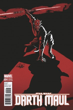 STAR WARS DARTH MAUL #4 CHARRETIER 1 IN 25 INCENTIVE VARIANT COVER