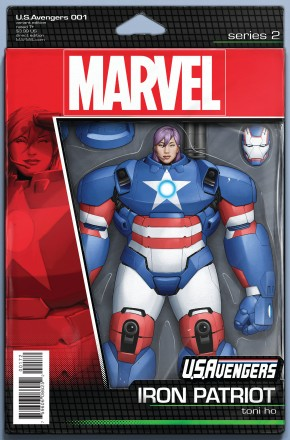 US AVENGERS #1 CHRISTOPHER ACTION FIGURE VARIANT COVER