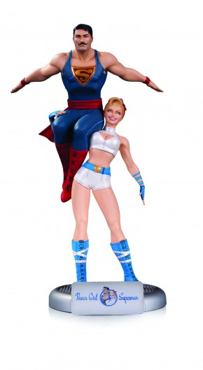DC COMICS BOMBSHELLS POWER GIRL AND SUPERMAN STATUE