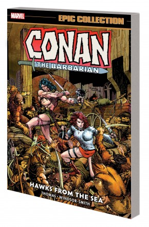 CONAN THE BARBARIAN THE ORIGINAL MARVEL YEARS EPIC COLLECTION HAWKS FROM THE SEA GRAPHIC NOVEL