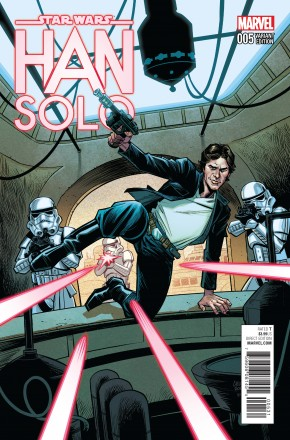 STAR WARS HAN SOLO #5 STEWART 1 IN 25 INCENTIVE VARIANT COVER