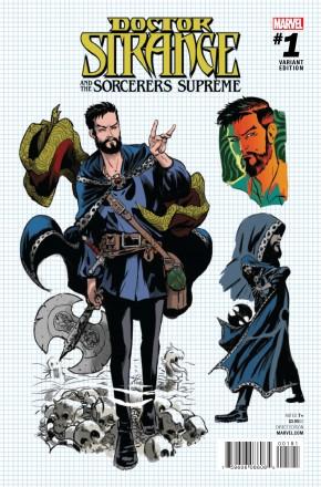 DOCTOR STRANGE SORCERERS SUPREME #1 RODRIGUEZ DESIGN 1 IN 15 INCENTIVE VARIANT COVER