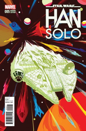 STAR WARS HAN SOLO #5 DEL MUNDO MILLENNIUM FALCON 1 IN 10 INCENTIVE VARIANT COVER