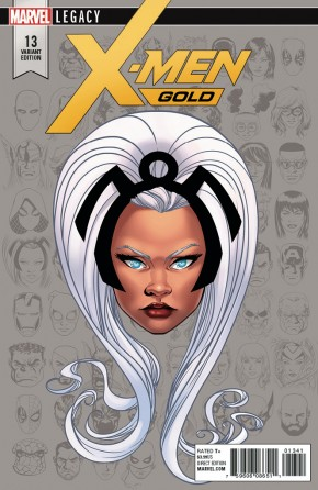 X-MEN GOLD #13 LEGACY MCKONE HEADSHOT 1 IN 10 INCENTIVE VARIANT