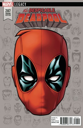 DESPICABLE DEADPOOL #287 (2017 SERIES) LEGACY MCKONE HEADSHOT 1 IN 10 INCENTIVE VARIANT