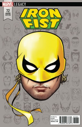 IRON FIST #73 (2017 SERIES) LEGACY MCKONE HEADSHOT VARIANT LEGACY