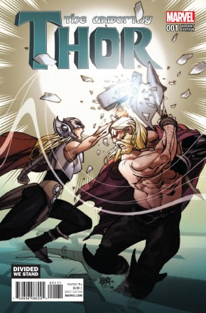 UNWORTHY THOR #1 FERRY DIVIDED WE STAND VARIANT COVER