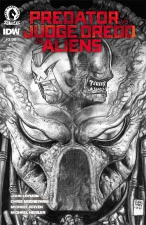 PREDATOR VS JUDGE DREDD VS ALIENS #3 FABRY PENCILS 1 IN 10 INCENTIVE VARIANT COVER