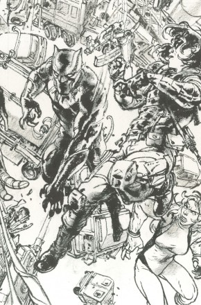 CIVIL WAR II #7 BLACK AND WHITE GI VIRGIN CONNECTING H VARIANT