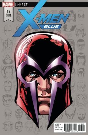 X-MEN BLUE #13 LEGACY MCKONE HEADSHOT 1 IN 10 INCENTIVE VARIANT