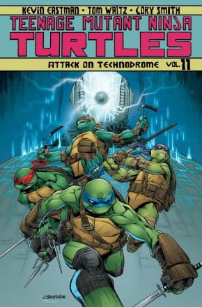 TEENAGE MUTANT NINJA TURTLES VOLUME 11 ATTACK ON TECHNODROME GRAPHIC NOVEL