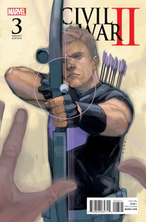 Civil War II #3 NOTO HAWKEYE 1 IN 10 INCENTIVE VARIANT COVER