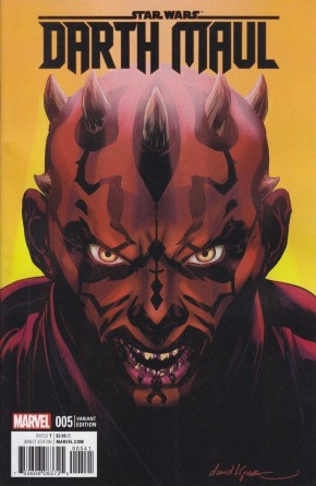 STAR WARS DARTH MAUL #5 LOPEZ 1 IN 25 INCENTIVE VARIANT