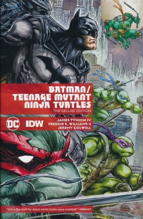BATMAN TEENAGE MUTANT NINJA TURTLES  DELUXE EDITION HARDCOVER