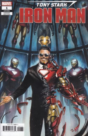 TONY STARK IRON MAN #1 GRANOV 1 IN 25 INCENTIVE VARIANT