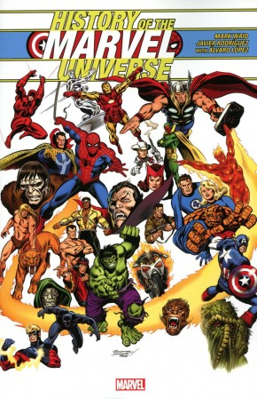HISTORY OF THE MARVEL UNIVERSE BUSCEMA DM VARIANT GRAPHIC NOVEL