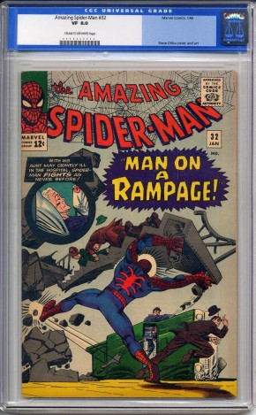 AMAZING SPIDER-MAN #32 CGC 8.0 CREAM TO OFF WHITE PAGES