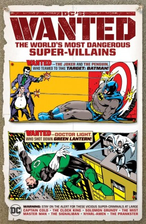 DCS WANTED WORLDS MOST DANGEROUS SUPERVILLAINS HARDCOVER