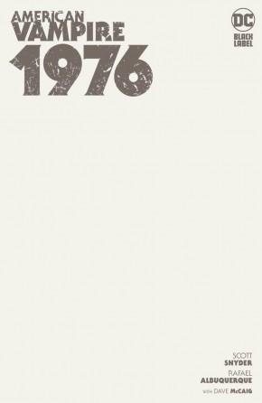 AMERICAN VAMPIRE 1976 #1 BLANK VARIANT