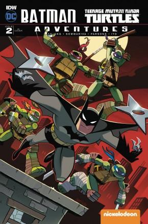 BATMAN TEENAGE MUTANT NINJA TURTLES ADVENTURES #2 1 IN 10 INCENTIVE VARIANT COVER