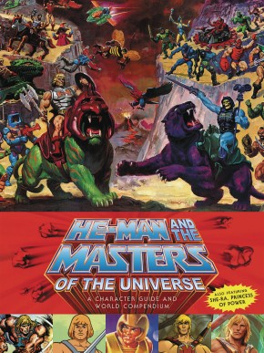 HE-MAN MASTERS UNIVERSE CHARACTER GUIDE AND WORLD COMPENDIUM HARDCOVER