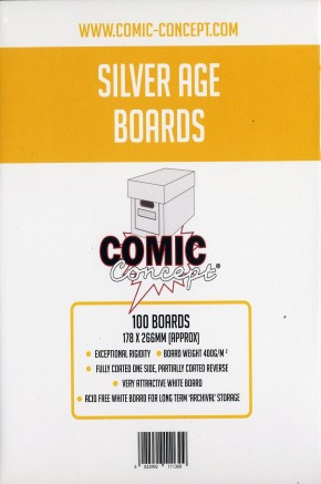 PACK OF 100 COMIC CONCEPT BACKING BOARDS FOR COMICS