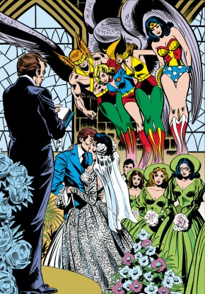 JLA THE WEDDING OF THE ATOM AND JEAN LORING HARDCOVER