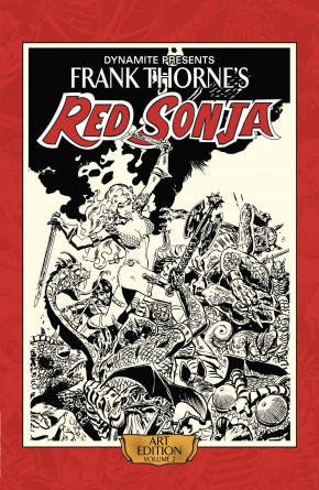 FRANK THORNE RED SONJA VOLUME 2 ARTIST EDITION HARDCOVER