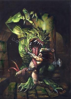 Simon Bisley Original Comic Art - Conan The Avenger #25 Original Cover Art Comic Art