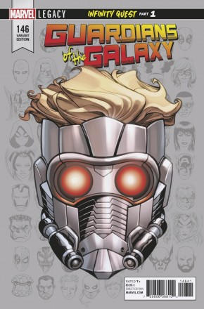 GUARDIANS OF THE GALAXY #146 (2017 SERIES) LEGACY MCKONE HEADSHOT 1 IN 10 INCENTIVE VARIANT
