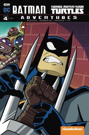 BATMAN TEENAGE MUTANT NINJA TURTLES ADVENTURES #4 1 IN 10 INCENTIVE VARIANT COVER