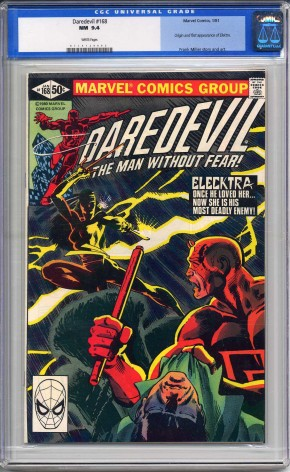 DAREDEVIL #168 CGC 9.4 WHITE PAGES