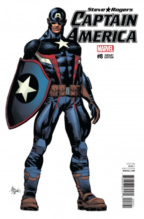 CAPTAIN AMERICA STEVE ROGERS #8 DEODATO TEASER 1 IN 10 INCENTIVE VARIANT COVER
