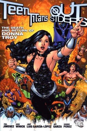 TEEN TITANS OUTSIDERS THE DEATH AND RETURN OF DONNA TROY GRAPHIC NOVEL