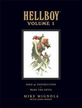 HELLBOY LIBRARY EDITION VOLUME 1 SEED OF DESTRUCTION AND WAKE THE DEVIL HARDCOVER