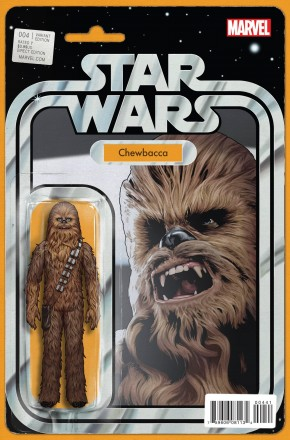 STAR WARS #4 (2015 SERIES) CHEWBACCA ACTION FIGURE VARIANT
