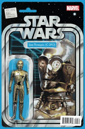STAR WARS #5 (2015 SERIES) SEE-THREEPIO (C-3PO) ACTION FIGURE VARIANT